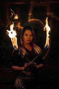 Bozeman Fire Performer Siren Iris Flamewater Circus