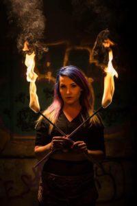 Missoula Fire Artist Siren Iris Flamewater Circus