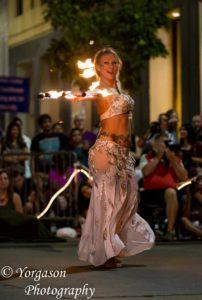 North Carolina Fire Belly Dancer Mundi Broda Flamewater Circus