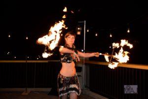 Grande Prairie Fire Performer Marcia Flamewater Circus