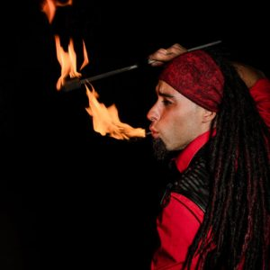 Montreal Fire Breather Golem Obsidian Flamewater Circus (3)
