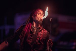 Montreal Fire Eater Golem Flamewater Circus