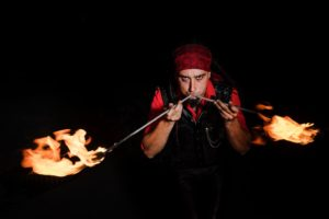 Montreal Fire Eater Golem Obsidian Flamewater Circus 2
