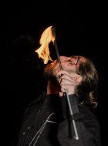 Montreal Fire Eating Show Dart Vapor Flamewater Circus