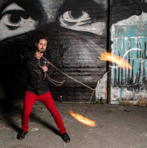 Montreal Fire Show Dart Vapor Flamewater Circus