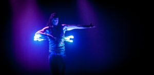 Montreal LED Glow Performer Golem Obsidian Flamewater Circus Show