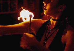Philadelphia Sexy Fire Show Rowyn Sage Flamewater Circus Atomic Bombshells