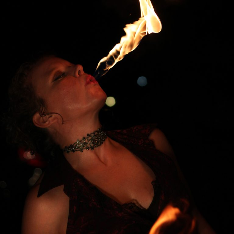 Winnipeg Fire Performer Tara Patrice Flamewater Circus