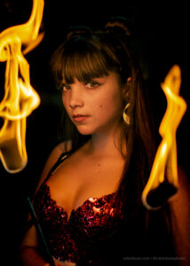 Sydney Fire Performer Jasmine Flamewater Circus