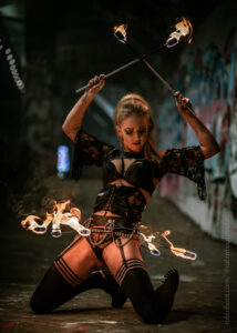UK Fire Performers Stephanie Bristol Fire Dancers Flamewater Circus