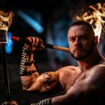 Flamewater Circus UK Fire Performer Marshall Arkley